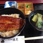 三ヶ日インター近く通販もやっている浜名湖うなぎ処「勝美」でうなぎを食べる